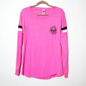 Pink Victoria's Secret | Hot Pink Open Back Tee S